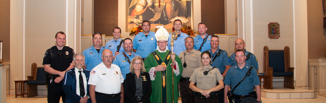Bishop Rice Celebrates Blue Mass
